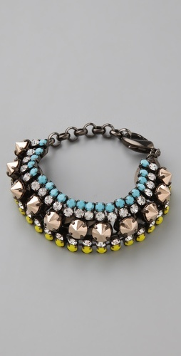 Iosselliani on Shopbop: Arm Candy, Colors Combos, Statement Necklaces, Wear Bracelets, Cute Bracelets, Accessories, Bracelets Charms, Turquoise Color, Boho Bracelets