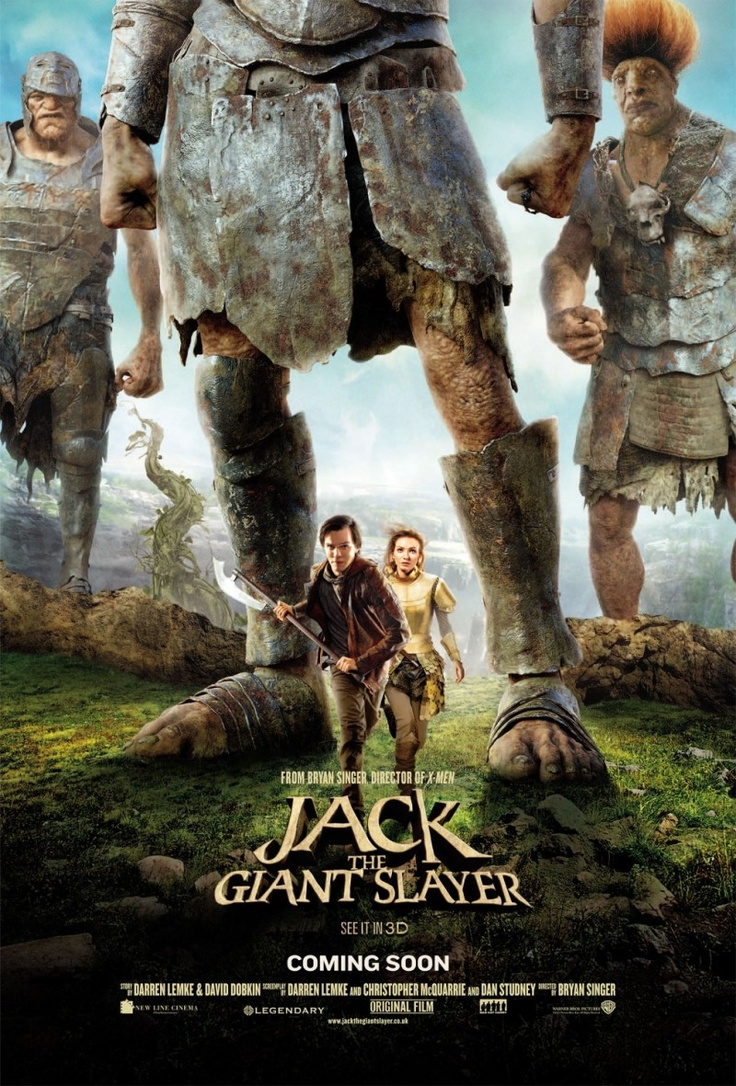 Jack the Giant Slayer (2013) | An ancient war is reignited when a young farmhand unwittingly opens a gateway between our world and a fearsome race of giants. Unleashed on the Earth for the first time in centuries, the giants strive to reclaim the land they once lost. Fighting for a kingdom, its people, and the love of a brave princess, Jack comes face to face with the unstoppable warriors he thought only existed in legend.