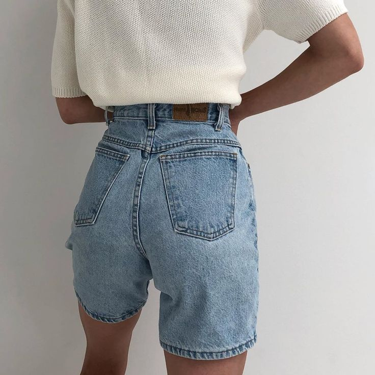 Summer Outfits With Basic Pieces High Waisted Shorts Outfit Vintage Denim Denim