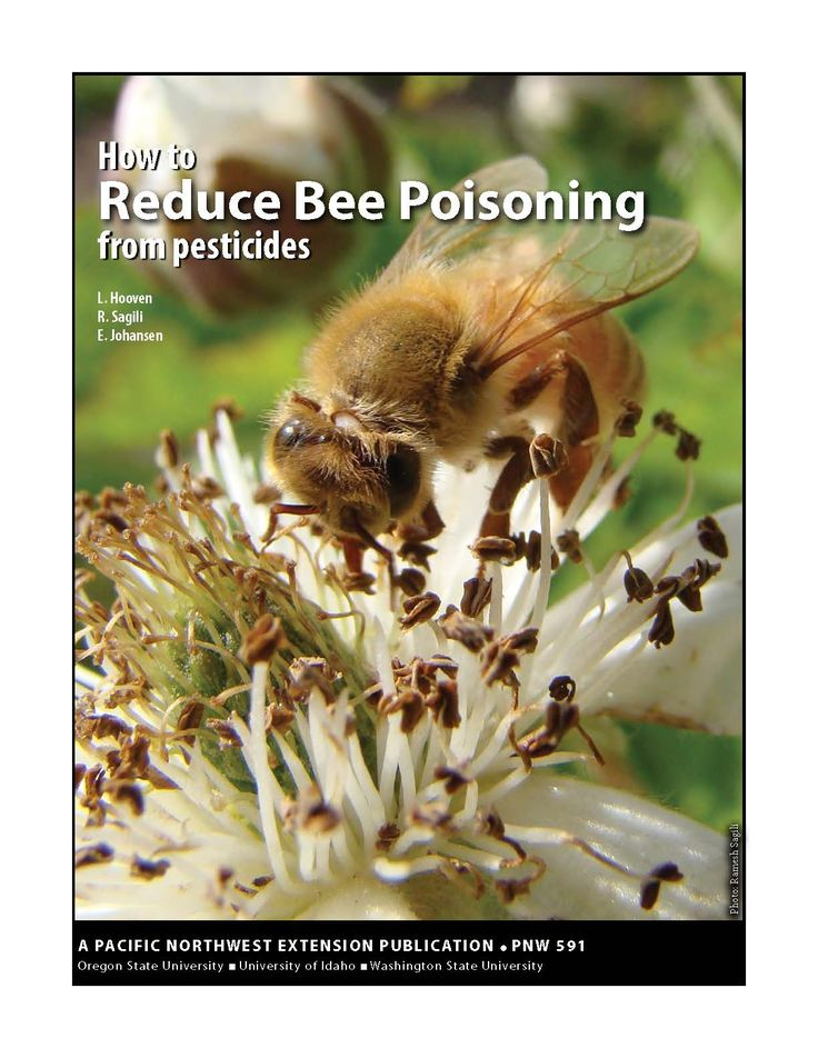 How to reduce bee poisoning from pesticides, by the Oregon State University Extension Service