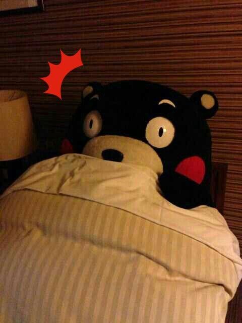ばっ!眠りかぶりよったモン。