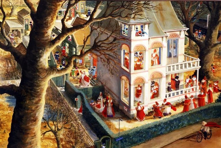 """Illustration by Charlotte Dematons from the book """"Sinterklaas"""""""