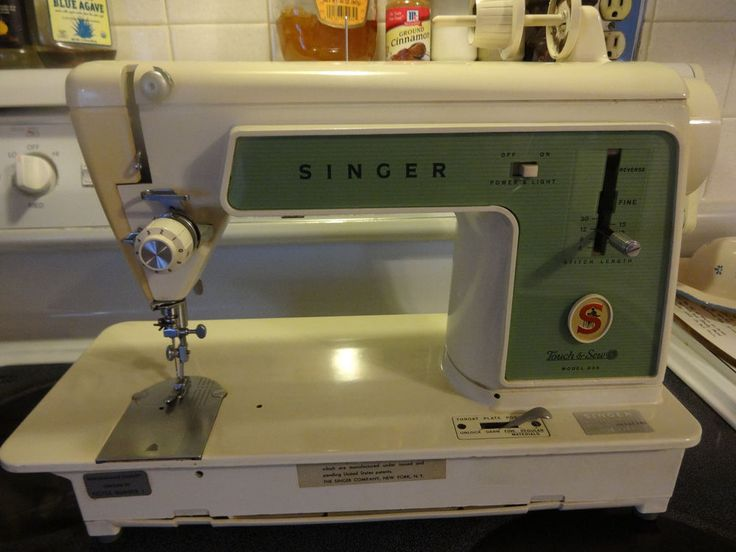 details about vintage singer touch and sew model 639 sewing machine for parts or repair usa. Black Bedroom Furniture Sets. Home Design Ideas