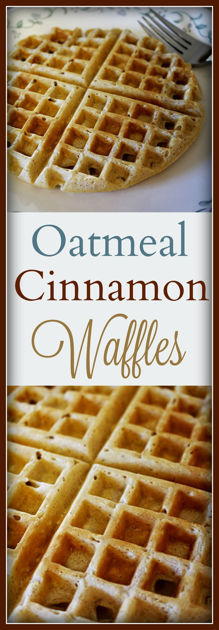 Oatmeal Cinnamon Waffles , Breakfast , Recipe Treasures