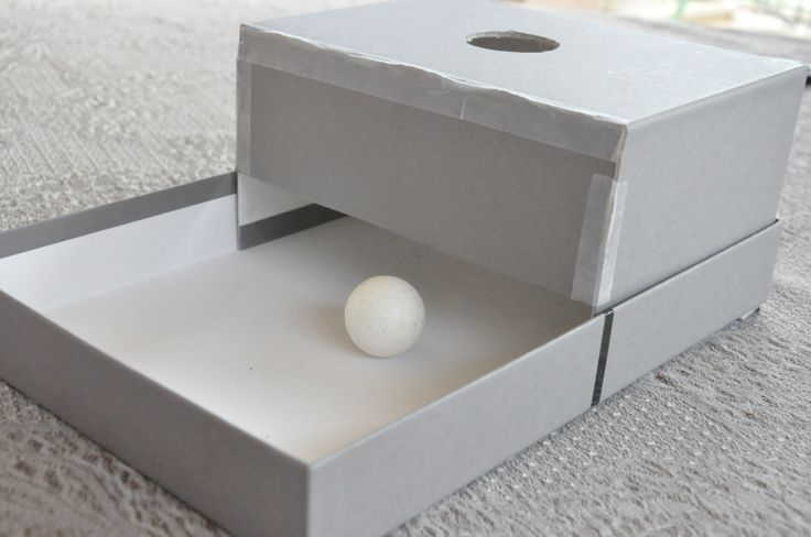 DIY Object Permanence Box (using an empty shoebox)