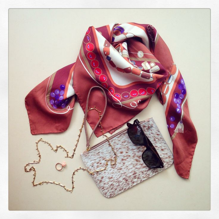 """Kompoloi"" silk scarf by Grecian Chic!"