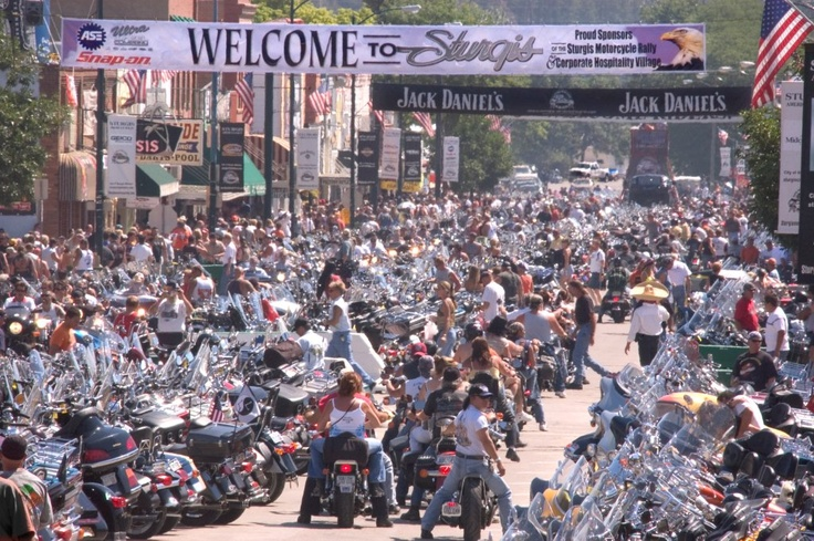 The biggest party on the planet.  Sturgis Motorcycle Rally.  Black Hills Motorcycle Rides, the book.