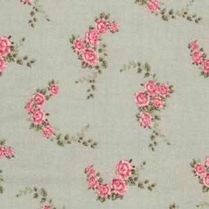 Blossom Rose Aqua Oilcloth