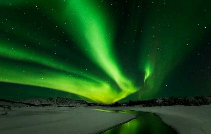 Green Lights In The Sky Green Pinterest
