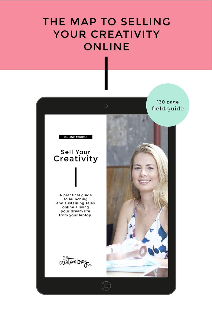 Sell Your Creativity is a 6-week online sales course for designers, makers & creatives that teaches the basics of selling your skills in the digital space.