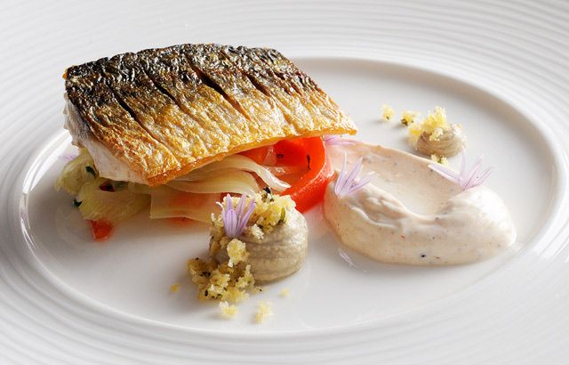 Pan-fried mackerel with fennel and pepper salad by Phil Fanning