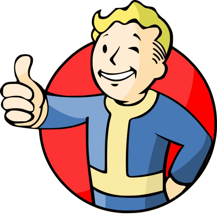 "An illustration by Craig-38 of ""Vault Boy"", the smiling info-guy in the post-apocalyptic ""Fallout"", released for Windows PCs by Interplay in 1997"