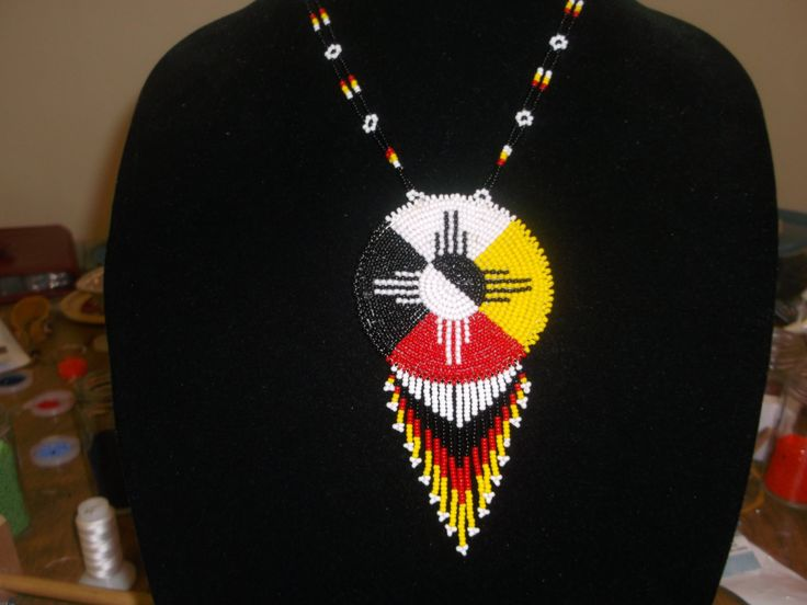 medicine wheel necklace, native american necklace by deancouchie on Etsy