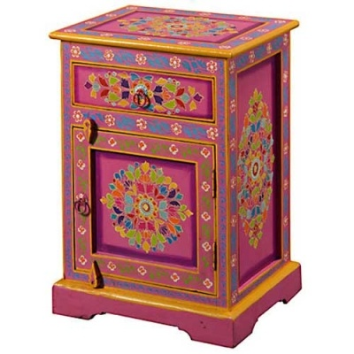 Pink Painted Indian Cabinet For The Home Pinterest