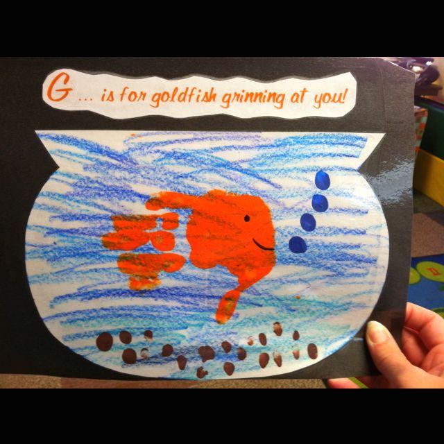 Letter G handprint