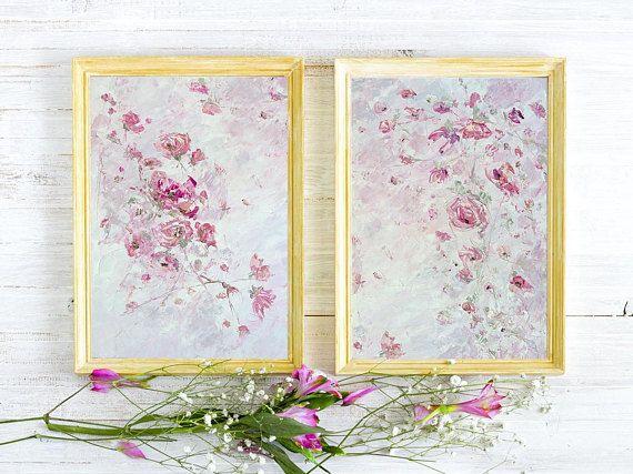 Impresiones de peonía pintura Bohemia rosa flor rosa impresión