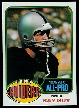 1976 topps football cards | Ray Guy - 1976 Topps #50 - Vintage Football Card Gallery