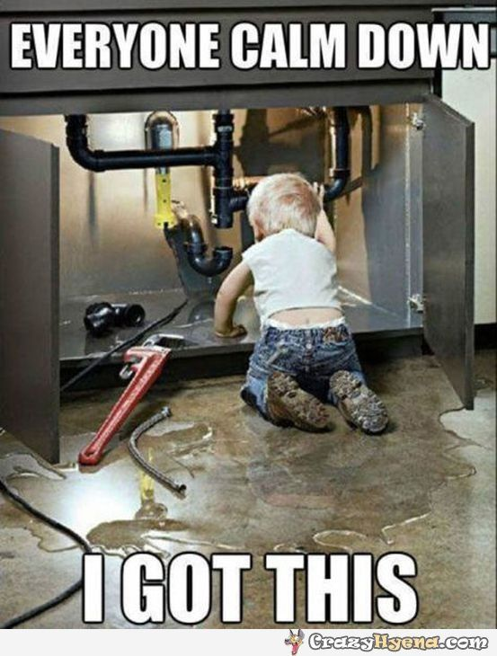 A+funny+picture+of+a++kid+who+is+trying+to+fix+something ...