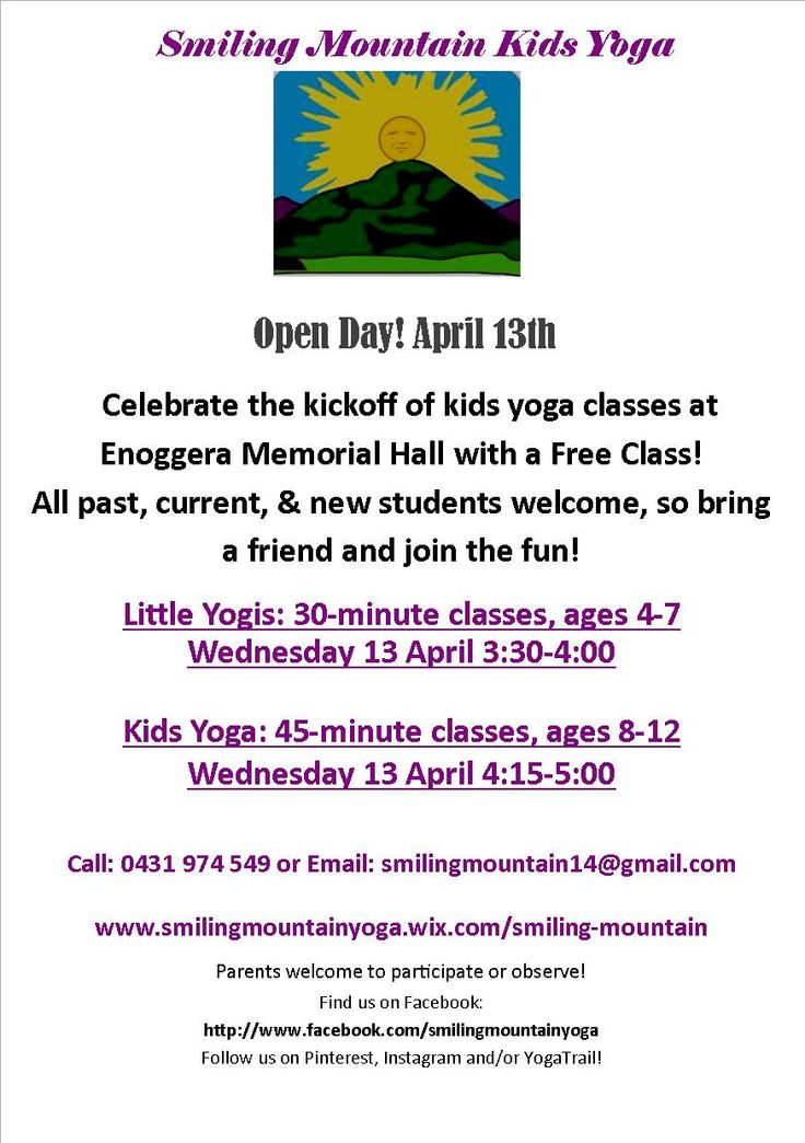 Open Day tomorrow in our new lovely, accessible space! #smilingmountainyoga #kidsyoga #brisbaneyoga #yoga #brisbanekids #brisbanenorthside #enoggerahall #activekids #healthykids #thingstodoinbrisbane