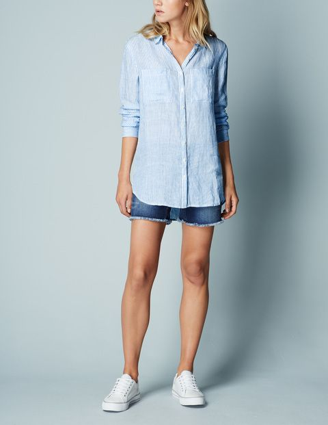 The Longer Length Linen Shirt