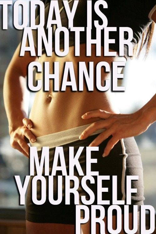 Today is another chance, make yourself proud. #workoutmotivation #fitnessmotivation