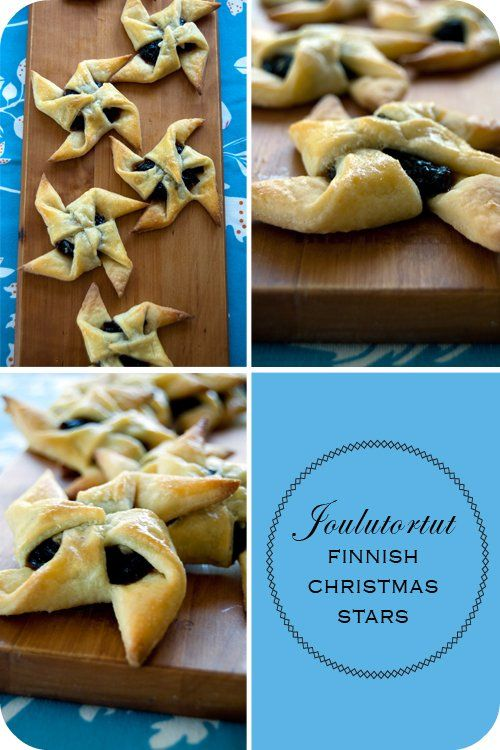 I use store bought puff pastry, but one day I will make my own dough !  Joulutortut Finnish Christmas Stars. So yummy!