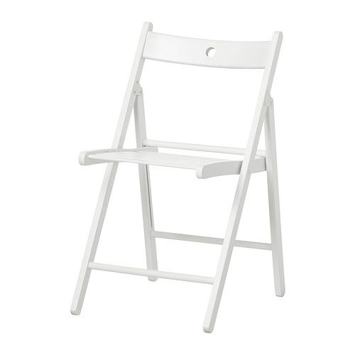 TERJE Folding chair - white - IKEA. Extra Folding Chairs for having outdoor parties.