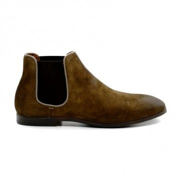 Doucal's - Boots Homme Velours Washé Taupe ou Marine