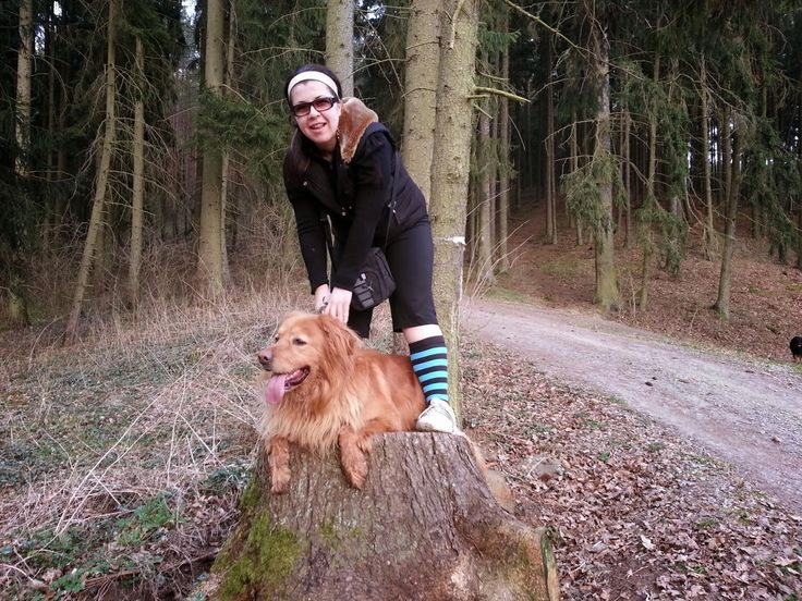 Sunny with my sister in the forrest.