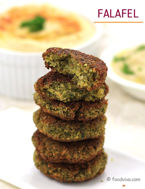 Easy Falafel with Hummus, Baba Ganoush and Tahini Sauce - Recipe with Step by Step Photos