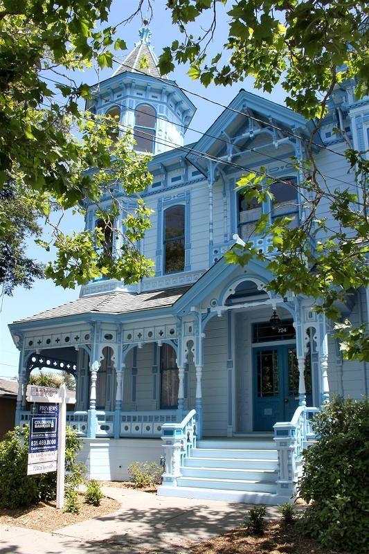 Beautifully detailed Victorian home location: California Street in Santa Cruz California