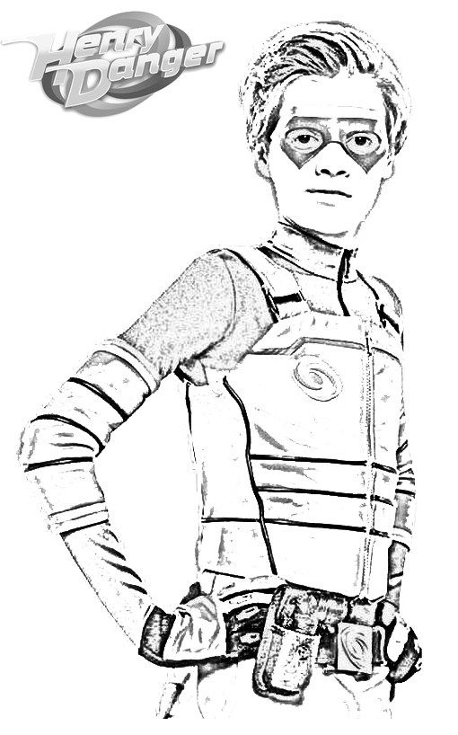 henry danger coloring pages fantastic henry danger coloring sheet for kids | Fun Henry Danger  henry danger coloring pages