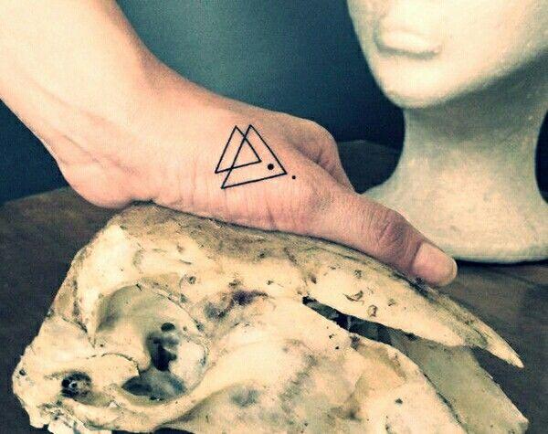 Geometric triangles tattoo