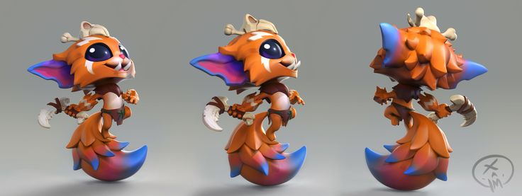 Gnar Figure Sculpt- Riot Merch, Max Gon on ArtStation at https://www.artstation.com/artwork/n4ed1