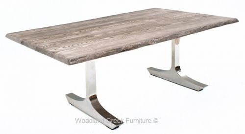 Gray Wash Live Edge Dining Table by Woodland Creek  : 41c225fd48f470cc4de17ec2072003ef from www.pinterest.com size 500 x 274 jpeg 12kB