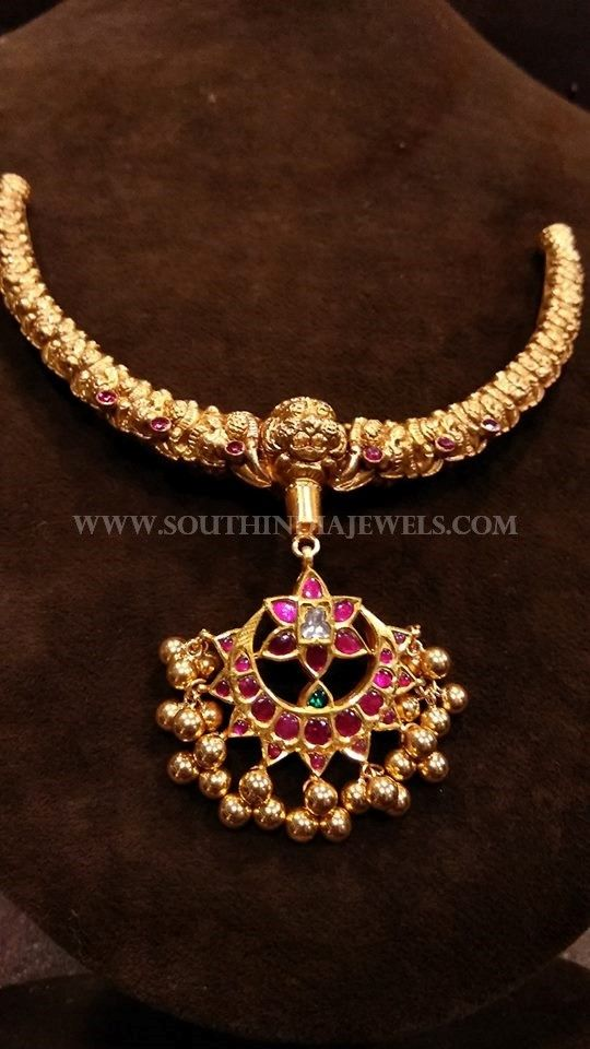 53 grams Gold Antique Necklace, Gold Antique Necklace With Weight 50  Grams.