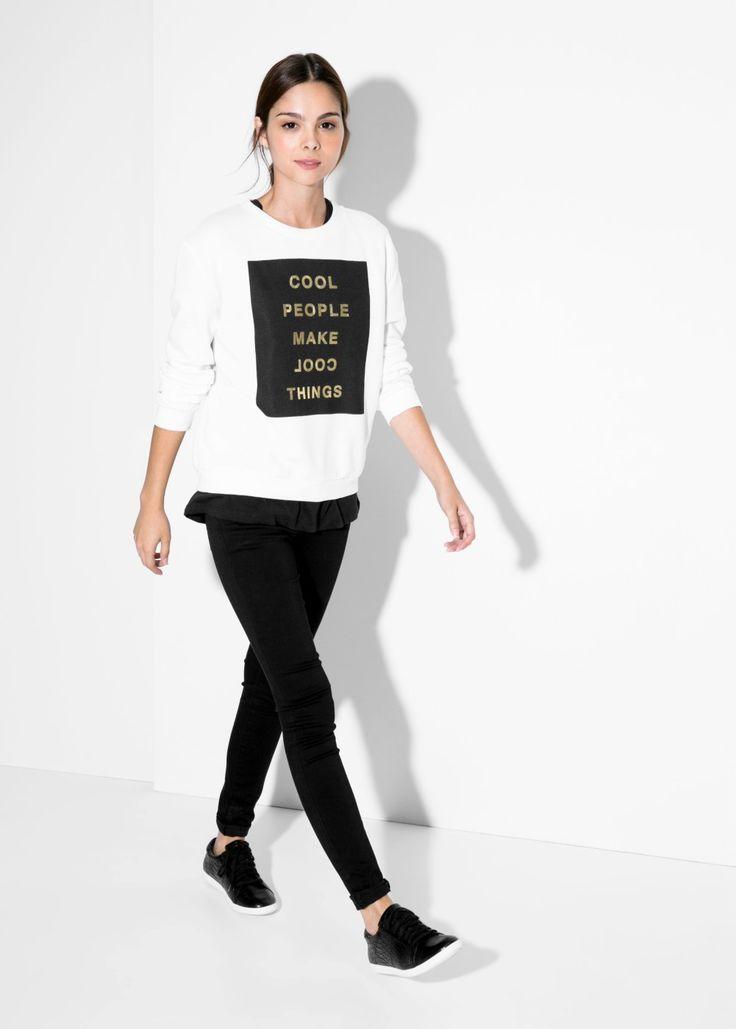 MANGO - Message cotton-blend sweatshirt #FW14 #NEW