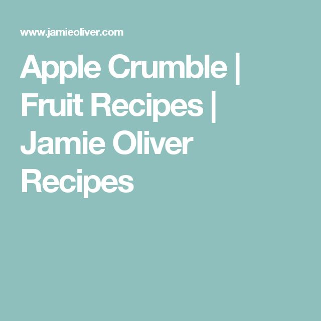 The 25+ best Apple crumble jamie oliver ideas on Pinterest Jamie - schnelle k che warm