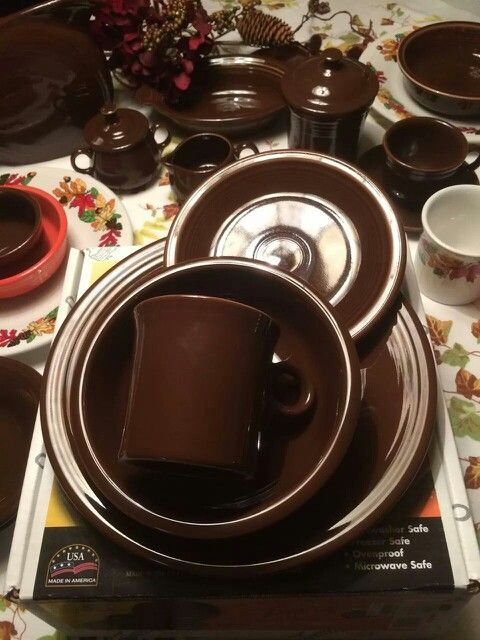 Chocolate Fiesta® Dinnerware & 64 best Fiesta® / Homer Laughlin China: Shades of Brown images on ...