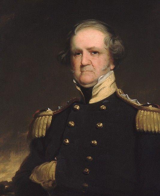 """""""General Winfield Scott"""" by Robert Walter Weir (1855) at the Metropolitan Museum of Art, New York"""