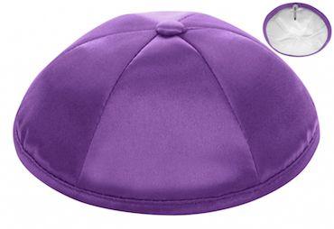 Medium Purple Deluxe Satin Kippah $42 per dozen Free personalization with purchase of six dozen or more.