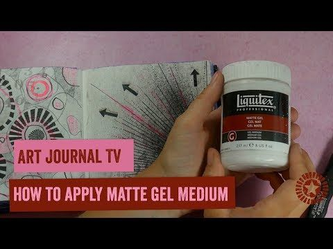 גורם לדפים להיות פחות סטיקים מחברות אחרות, היא לא פירטה Art Journal TV How to apply gel medium - YouTube