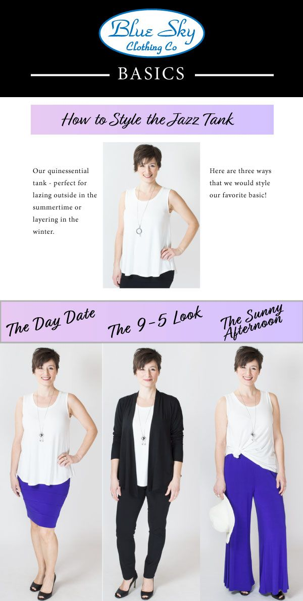 Meet the only tank top you'll every need: the Jazz Tank! XXS-4X Blue Sky Clothing Co