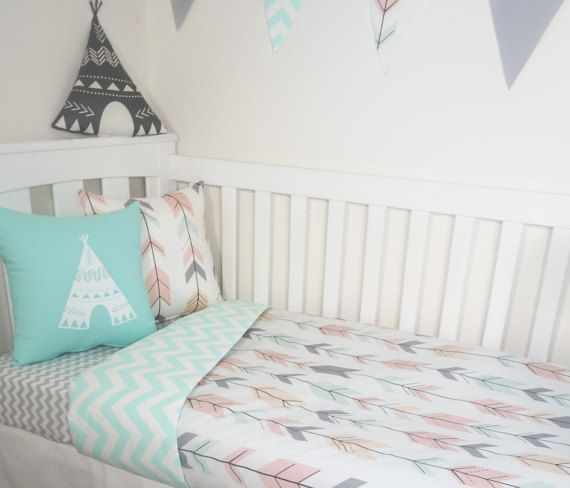 Mint blush grey peach joining arrows and mint by MamaAndCub