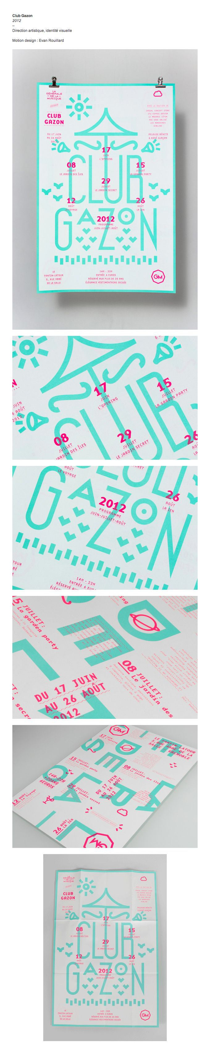 Club Gazon . Poster Design . Graphic Design Inspiration . Geometric Trend