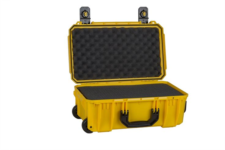 Seahorse Protective Equipment Cases SE830 Carry On Case with Foam, Yellow, Medium
