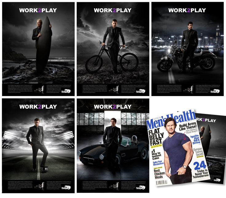 Work2Play campaign running in Mens Health Magazine
