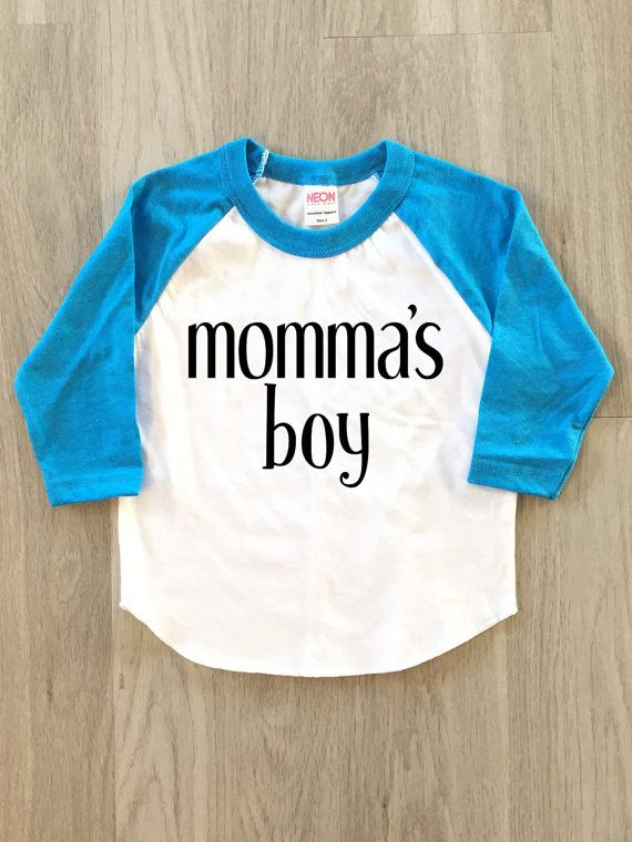 Momma's boy Mother's Day baby boy clothes by 8thWonderOutfitters