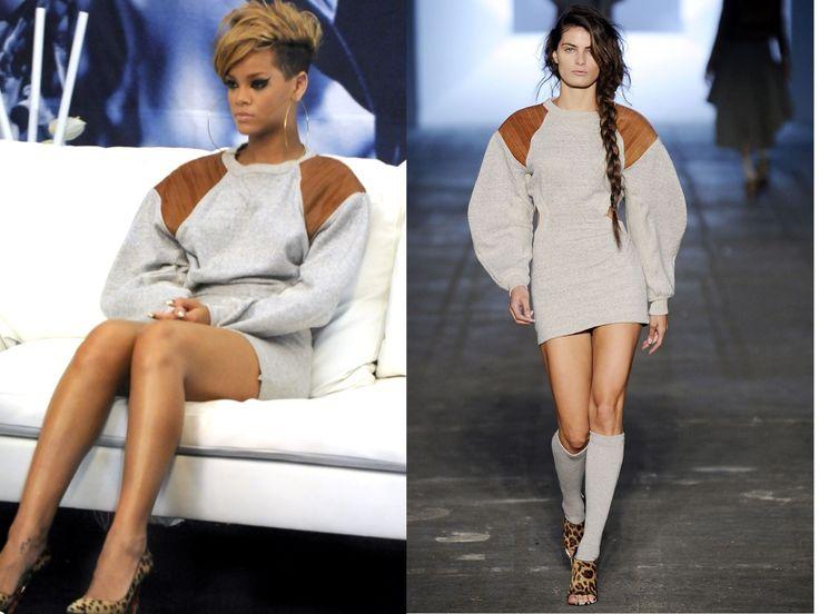 Rihanna Sweater Dress December 2017
