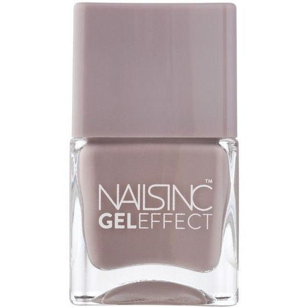 nails inc. Porchester Square Gel Effect Nail Varnish (14ml) (70 ILS) ❤ liked on Polyvore featuring beauty products, nail care, nail polish, beauty, nail, accessories, cosmetics, filler, gel nail color and nails inc.